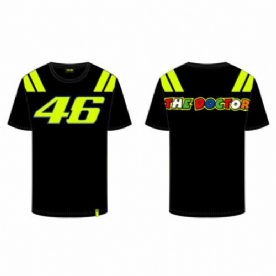 VR46 Official Sole E Luna T-Shirt Black Yellow